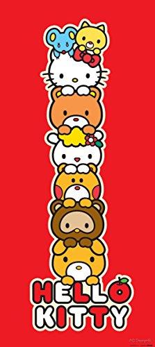 AG Design FTV 1530 Hello Kitty, Papier Fototapete Kinderzimmer - 90x202 cm - 1 Teil, Papier, multicolor, 0,1 x 90 x 202 cm