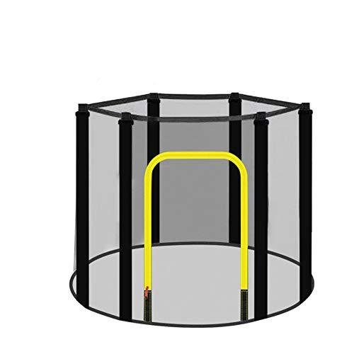 E/T Red de recinto de Seguridad de Repuesto | Se Adapta a trampolín de 3.97 pies / 4.59 pies / 4.92 pies | Usando 6 Postes curvos | 1.2M, 1.4M, 1.5M