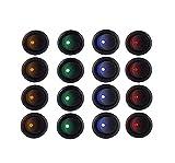 YGL 16 Interruptor Indicador Luz 16mm para Coche Auto,Interruptores de Encendido