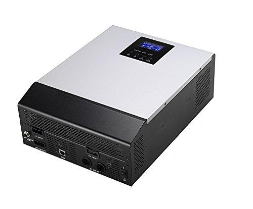 Plusenergy Inversor Solar Onda Pura Hibrido 1KVA-VPM 1Kva 12V + MPPT Regulador Solar 50A + Cargador de Baterías 20A