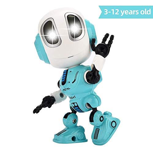 FUTURE ROBOT Spaß Sprechende Roboter Spielzeug, Interaktive Spielzeug für Kinder,Elektronisches Spielzeug mit LED Augen & Touch-Steuerung Robot Toys , für 3 Jahre altes Up Jungen Mädchen (BLAU)