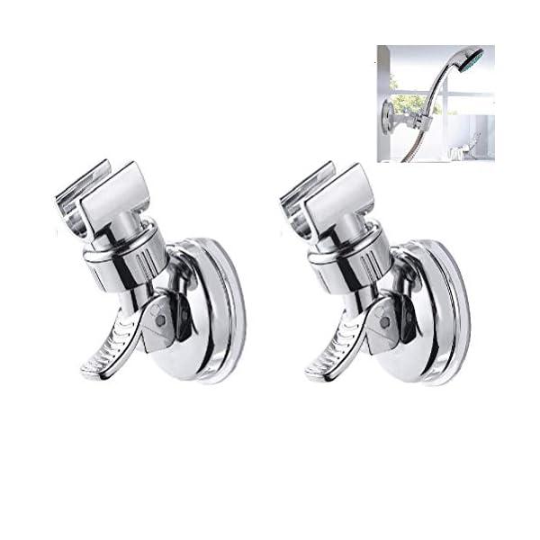 LiDing 2 soportes para cabezal de ducha, ajustable y extraíble, con ventosa, sin taladro, para cabezal de ducha de mano