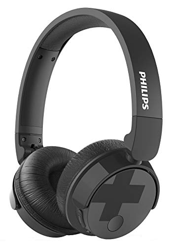 Philips BH305BK/00 - Auriculares supraaurales on-Ear (Bluetooth, Bajos voluminosos, cancelación de Ruido, Plegables), Color Negro