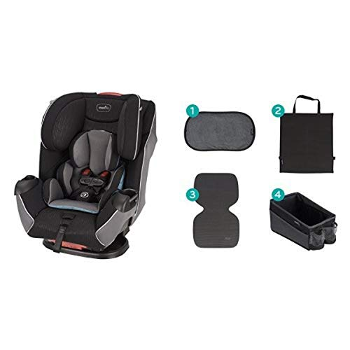 Evenflo Platinum Symphony LX All-In-One Car Seat, Montgomery with Car Seat Accessory Kit