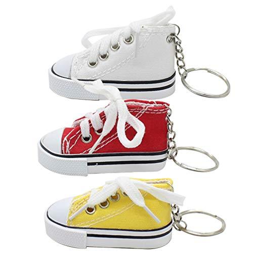Toyvian Mini Canvas Sneaker Schlüsselanhänger Tennisschuh Schlüsselanhänger Coole Geburtstagsfeier Begünstigt Goody Bag Füller Für Junge Und Mädchen