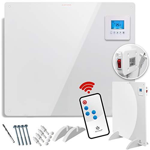 KESSER® Infrarotheizung 550 Watt mit Fernbedienung ✓ LCD-Display Digital ✓ Timer ✓ Wandheizung ✓ Infrarot ✓ Heizung ✓ Heizkörper | Heizpaneel Inkl.Standfüßen NEU