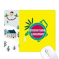 インターナショナル サンタクロース家屋ゴムのマウスパッド