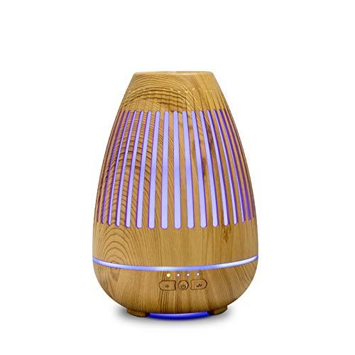 260 ml Difusor de Aceite Esencial, humidificador de Niebla para el Temporizador de Viaje de Oficina de automóviles y Auto-Apagado sin Agua, 7 Colores de luz LED,A
