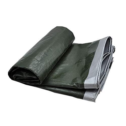 Dall bâche Imperméable Planche Tissu Anti-Pluie PE Revêtement De Sol Polyvalent Bâche (Couleur : Green, Taille : 8 * 12m)