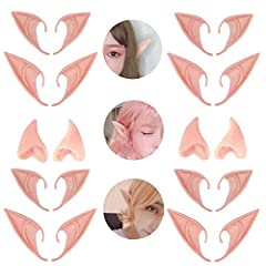 Quantity:6Pair Different Design(short Elf Ears + long Elf Ears + half Elf Ears) Size-fits most ears,Occasion - Cosplay,Halloween,Christmas,Masquerade,Carnivals and Fancy Dress Parties Extremely lifelike,give you a special experience, You can dress up...