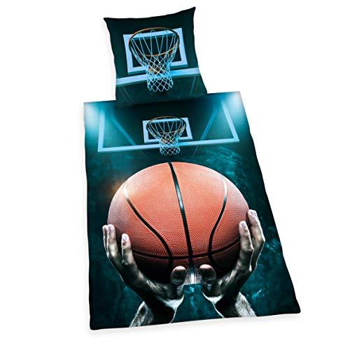 copripiumino singolo ragazzo Herding Young Collection Basketball Set di Set Copripiumino singolo e federa