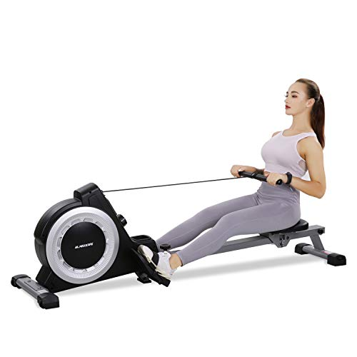 Magnetic Rower Rowing Machine with 16 Level Adjustable Resistance and LCD Monitor and...