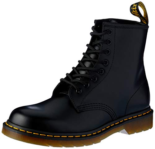 Dr. Martens 1460 Smooth, Stivaletti Unisex Adulto, Nero (Black Smooth), 39