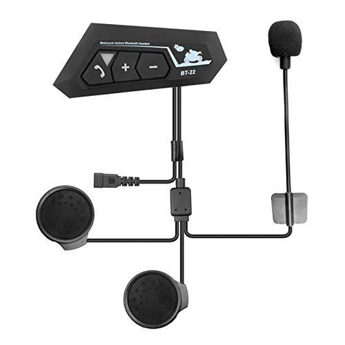 Bluetooth 5.0 Casco Auricular Bluetooth Inalámbrico Inalámbrico Auriculares Intercomunicadores Motor Auricular Micrófono Reducción de Ruido (Color : BT22)