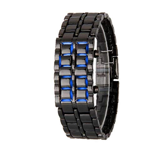 Unisex Square LED Digital Watch Electronic for Men Women Student Blue Light Silicone Bracelet Watches Black Exquisite and Beautiful Decoration