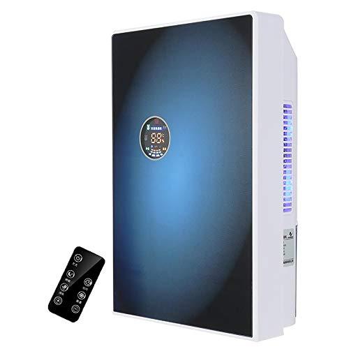 RWQRWQ Assorbitore di umidità del Deumidificatore da 1500 Ml, Essiccatore dell'Aria di Purificazione degli Anioni, Essiccatore del Deumidificatore LCD Muto Portatile,Blue