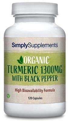 Organic Turmeric & Black Pepper Capsules | 120 Capsules = 2 Month Supply | Vegan & Vegetarian Safe