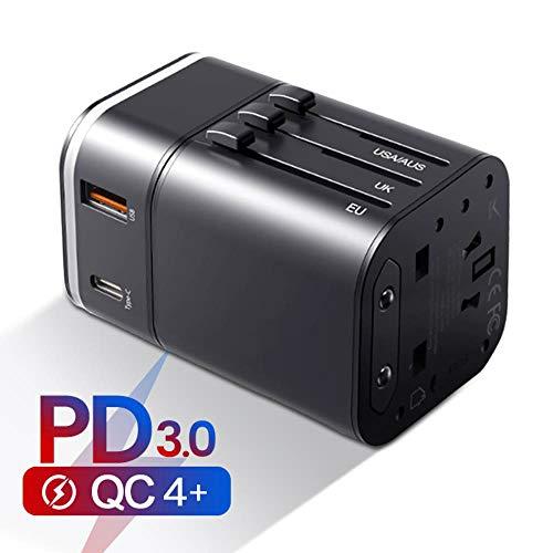 Snel opladen 4.0 3.0 USB-lader Universele reisadapter USB C PD QC QC4.0 QC3.0 Snel opladen Internationale stopcontact