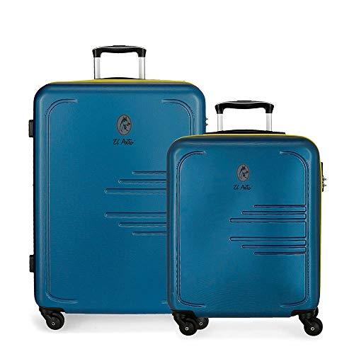 Juego de maletas El Potro Batrán Azul 55-69 cm