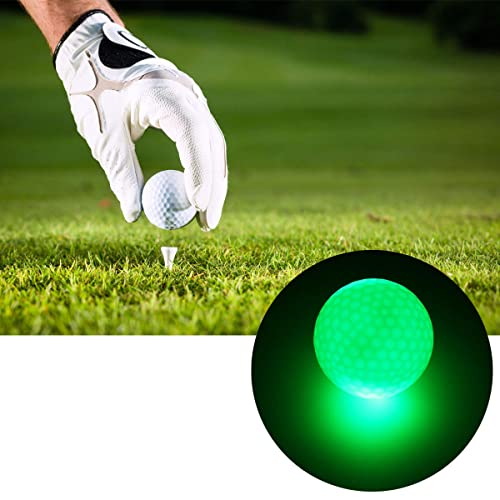 AOOF 6 Stück 1.6 Zoll LED Golfbälle dunkle Nacht leuchtende Sportball.