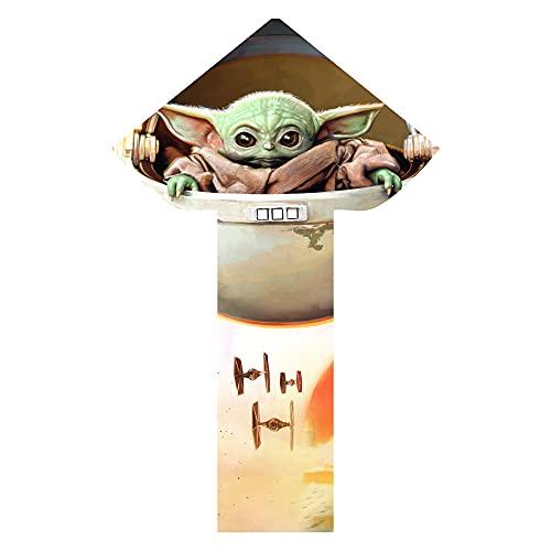 X-Kites Skyflier 50 Star Wars The Mandalorian The Child Baby Yoda Grogu Nylon Kite, 50 Inches Tall