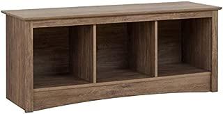 Prepac Entryway Cubbie Bench, 3, Drifted Gray