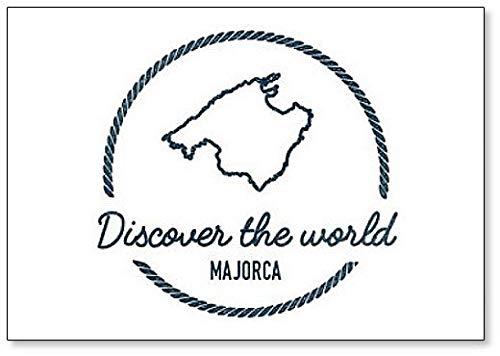 Ontdek de wereld, Spanje Mallorca Map Outline - Klassieke Koelkast Magneet