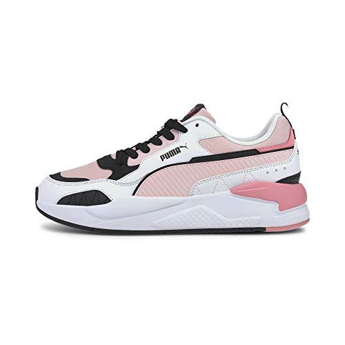 PUMA X-Ray 2 Square Pack, Sneaker Unisex-Adulto, Rosa Peachskin White Black/Salmon Rose, 37 EU
