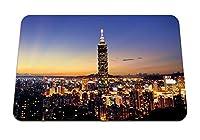 22cmx18cm マウスパッド (高層ビル街の夜景) パターンカスタムの マウスパッド