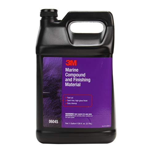 3M Marine Compound and Finishing Material, 06045, 1 gal