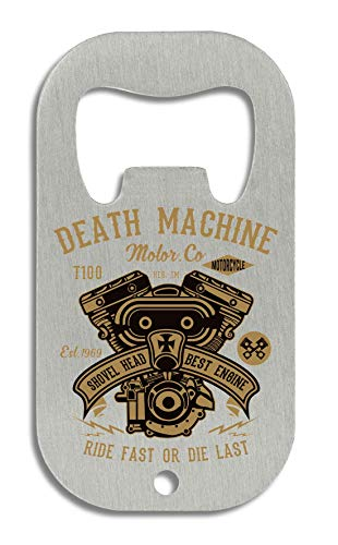 LukeTee Death Machine Retro V8 Motor Best Engine Ride Fast Or Die Last flesopener