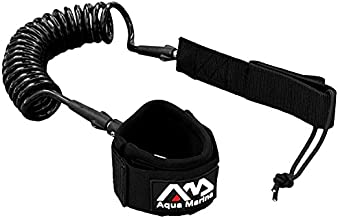 Modern-Depo Aqua Marina 8' Coil Leash for Flat & Open Water Stand Up Paddle Board and Surfing