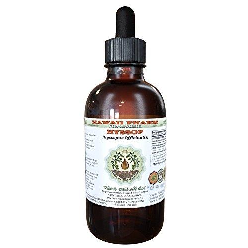 Hyssop Alcohol-Free Liquid Extract, Organic Hyssop (Hyssopus officinalis) Dried Herb Glycerite 2 oz