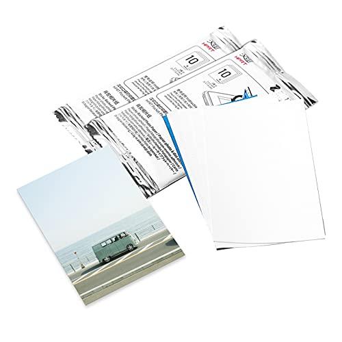 Festnight Papel fotográfico con respaldo adhesivo de 10 hojas,tecnología sin tinta de 2 x 3 pulgadas para impresora fotográfica de bolsillo BT inalámbrica BT