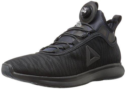 Reebok Women's Pump Plus Flame Running Shoe, Black, 9 M US