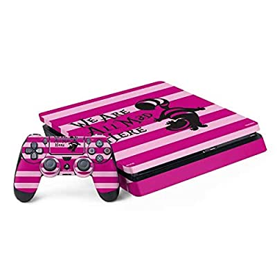 Skinit Decal Gaming Skin for PS4 Slim Bundle - Officially Licensed Disney Cheshire Cat We are All Mad Here Design