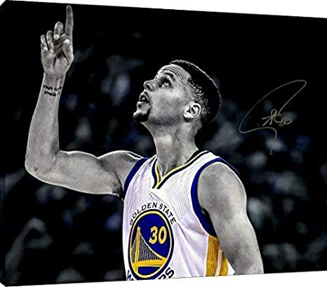 FREE SHIPPING Steph Curry Splash Poster Photo Painting Artwork on Canvas Art