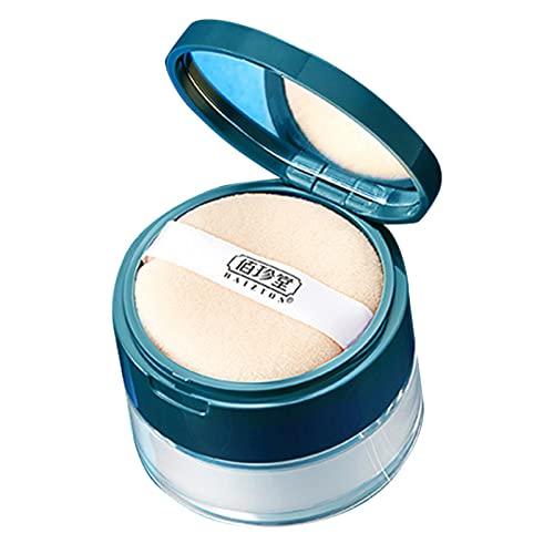Poudre Libre Fixante, Éclairer Poudre Maquillage Contrôle De l'huile Mineral Powder Effet De Mise Au Point Douce pour La Plupart des Types De Peau