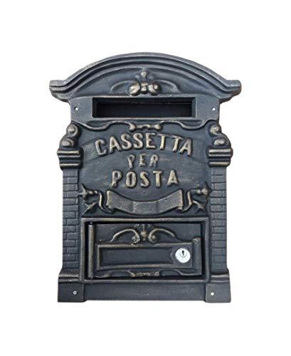Kippen 1183B2 Cassetta Porta Lettere in Ghisa Modello Old, Bronzo