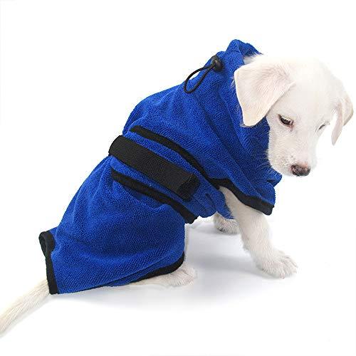 MWJK Toallas para Perros, Ultra Absorbente Toallas De Microfibra De Chenilla para Perros con Bolsillos para Las Manos, Toalla Microfibra Ultra Absorbente para Agua De Secado,M