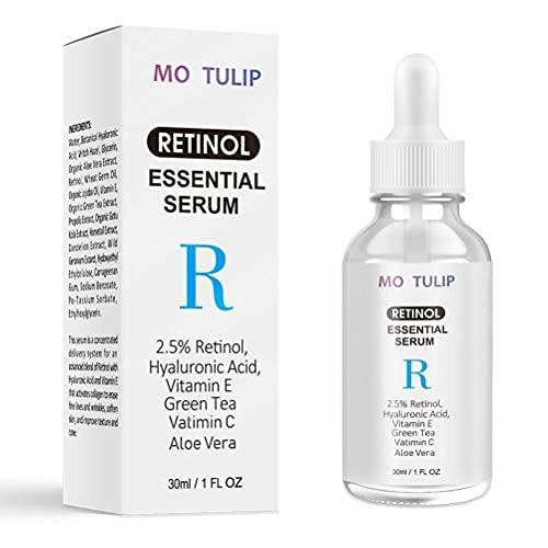 LifeBest 30 ML de sérum de rétinol hydratant illumine la Peau Vitamine Acide d'acide hyaluronique Essence Anti-âge et Anti Rides sérum-dodu, Hydrate et illumine