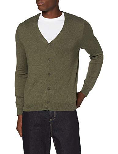 Marchio Amazon - MERAKI Cardigan Uomo, Verde (Khaki), XS, Label: XS