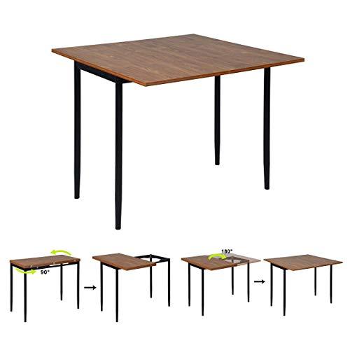 Esstisch Ausziehbar Esszimmertisch Wohnzimmer Tisch Küchentisch MDF Braun