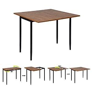 Mueble Coy - Mesa Extensible para Comedor - Mesa de Consola de Cocina escandinava - Tablero de MDF - Estructura de Metal, 45 x 90 x 76 cm