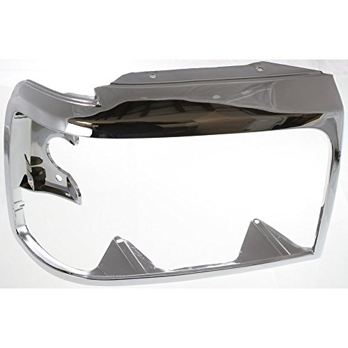 Evan-Fischer Headlight Door compatible with Ford F-Series 92-97 RH Chrome Right...