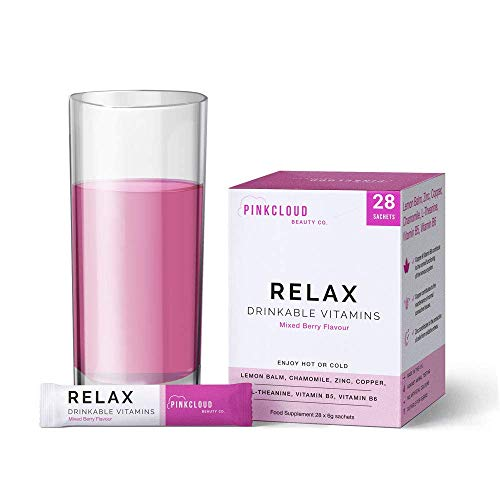 Relax Multivitamins for Adults - Vegan Herbal Supplement to Help Natural Sleep, Stress & Anxiety Relief - Drinkable Vitamins - Includes Chamomile, Zinc and Vitamin B6 | Pink Cloud Beauty Co.
