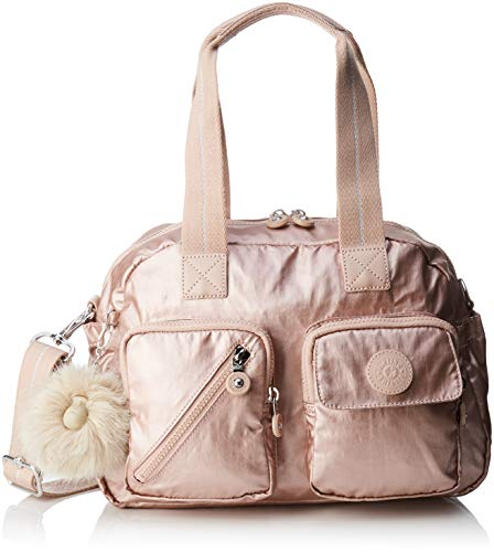 Kipling Defea Up, Cartables femme, Or (Metallic Blush), 19x33x24.5 cm (B x H T)