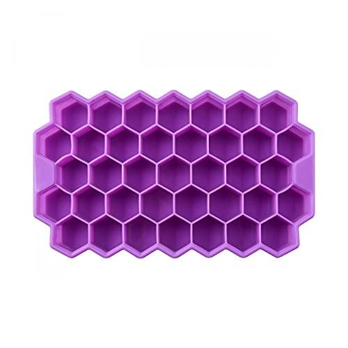 oein Eiswürfel-Tabletts mit abnehmbaren Deckeln Kieselgel Eiswürfelform BPA frei(lila * 3)