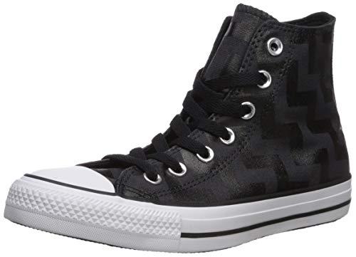 Converse Chuck Taylor All Star Glam Dunk Zapatilla de deporte para mujer, negro (Negro/Casi Negro/Blanco), 38 EU