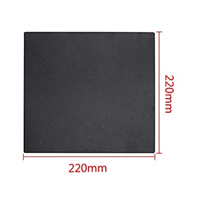 3D Printer Build Surface 220mm for Anet A8 for WanHao i3 Magnetic Anti-warping Detachable Square Black Eewolf (220x220) …